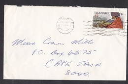 Transkei: Cover, 1976, 1 Stamp, Woman, Smoking, Pipe, Plants, Cancel Butterworth (traces Of Use) - Transkei
