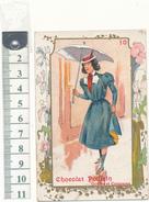 Chocolat Poulain - Chromo Gauffré - Femme Au Parapluie - Poulain