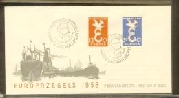 1958 - Netherlands FDC E35 Blanco - Europe CEPT [R00031] - FDC