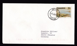 Transkei: Cover To Germany, 1994, 1 Stamp, Fossil, Prehistoric Animal, Dinosaur?, Rare Real Use (traces Of Use) - Transkei