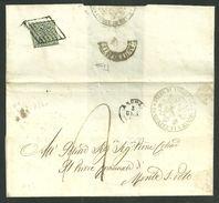 FRODE POSTALE 11 SU 10 - DA S. BENEDETTO DEL TRONTO A MONTE S.POLO - 5.1.1860 - Stato Pontificio