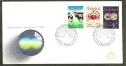 1974 - Netherlands FDC E133 Blanco - Herdbook - Cancer-control - Rescue Services [NL245] - FDC