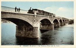 71 - DIGOIN - Nouveau Pont Sur La Loire - Train - Digoin