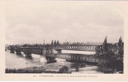 Cp , 67 , STRASBOURG , Les Ponts Du Rhin Et Kehl Dans Le Lointain - Strasbourg