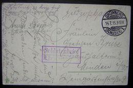 1915 Grünberg (Schliessen) Soldatenbrief Des Kriegers Traum Von Siegreicher Heimkehr - Postmark Collection (Covers)