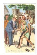 18218 - Il Faut Former Les Jeunes Pétanque Par M. Huet - Illustrateurs & Photographes