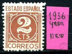 SPAGNA - Year 1936 - Nuovo - New - Fraiche -frisch.- MNH **. - 1931-Oggi: 2. Rep. - ... Juan Carlos I
