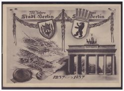 Dt.- Reich (005093) AK Berlin 700 Jahre Stadt Berlin Mit !/2 Block Mit 2 SST Stralauer Fischzug Von Treptow, Strahlau - Allemagne