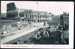 ROMA  - Anfiteatro Flavio - Colàsseo -voyagée 1907  -Recto Verso-  Paypal Free - Roma