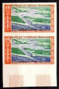 AOF Poste Aérienne Maury N° 16 En Paire Non Dentelés Neufs (*). B/TB. A Saisir! - Unused Stamps