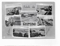 SALUTI DA RIMINI VEDUTE  VIAGGIATA  FG - Rimini