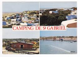 62 Camiers Vers Le Touquet Camping Caravaning Des Dunes Plage De Saint St Gabriel En 1977 Citroën DS 2CV Renault R16 10 - Le Touquet