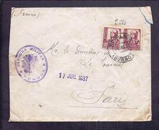 ENVELOPPE GUERRE ESPAGNE Cachet De Censure Militaire ESCALADA BURGOS 1937 CENSURA MILITAR - Marcas De Censura Nacional