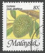 Malaysia. 1986 Fruits Of Malaysia. 80c Used. SG 346 - Malaysia (1964-...)