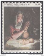 """1211 Paraguay 1969 Natale Christmas """" Madonna And Child """" Quadro Dipinto Da G. C. Procaccini Nuovo MNH Painting Tableau - Religion"""