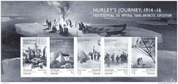 Australian Antarctic 2016 Hurley's Journey 1914-16 Minisheet MNH - Unused Stamps