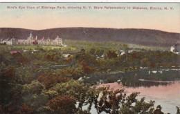 New York Elmira Birds Eye View Of Eldridge Park With New York St