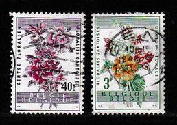 BELGIUM, 1960, Used Stamp(s), Flower Show,   MI 1179-1181, #10364, 2 Values Only - Belgium