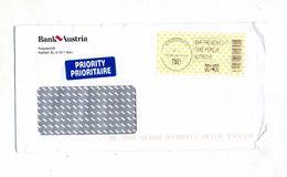 Lettre Stegersbach Par Vignette  Entete Banque - Machine Stamps (ATM)