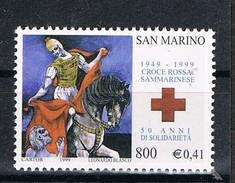 1999 SAN MARINO SET  50° ANNIVERSARIO DELLA CROCE ROSSA SAMMARINESE  MNH ** MINT - San Marino