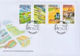 Liechtenstein Set On FDC - Agriculture