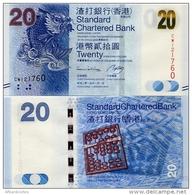 HONG KONG - SCB     20 Dollars     P-297d      1.1.2014         UNC - Hong Kong