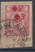 Nlle Calédonie N° 111aO  Au Profit De La Croix-Rouge, Variété Double Surcharge Oblité. Assez Belle Sur Fragment Sinon TB - New Caledonia