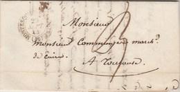 Lettre Cachet  MONTESQUIEU VOLVESTRE Haute Garonne 20/9/1844 Taxe Manuscrite 3 Pour Toulouse - 1701-1800: Precursors XVIII