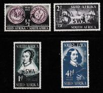 SOUTH WEST AFRICA, 1952, Mint Hinged Stamp(s),  Jan Van Riebeeck, MI 269-273, #781 4 Values Only - South West Africa (1923-1990)