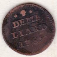 Luxembourg   Demi Liard 1789 , Leopold II - Luxembourg