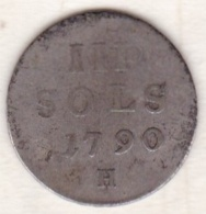 Luxembourg   3 Sols 1790 H , Leopold II , Argent. - Luxembourg
