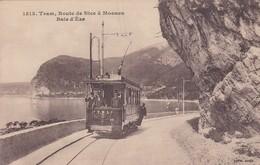 TRAM, ROUTE DE NICE A MONACO. BAIE D'EZE. EDITION GILETTA. CIRCA 1910s. TBE -BLEUP - Transport (road) - Car, Bus, Tramway