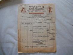 HAUBOURDIN NORD EMILE BONZEL MANUFACTURE DE CHICOREE EXTRA FACTURE DU 18 DECEMBRE 1948 - Frankrijk