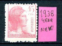 SPAGNA - Year 1938 - Nuovo - New - Fraiche - Frisch. - MNH ** - 1931-Oggi: 2. Rep. - ... Juan Carlos I