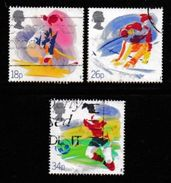 UK, 1988, Cancelled Stamps , Sports Organizations,  1143=1146, #14525 3 Values Only - 1952-.... (Elizabeth II)