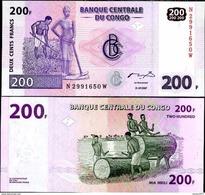 Congo - 200 Francs 2007 UNC - Demokratische Republik Kongo & Zaire