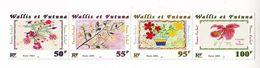 WF - 2001, Children Flower Drawings 4v - MNH - Wallis Y Futuna