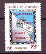 WF - 2001 Campaign Against Alcoholism 1v - MNH - Wallis Y Futuna