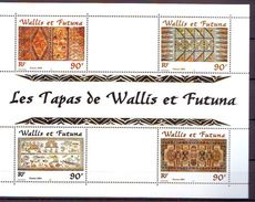WF - 2001 Tapas, Bark Of Paper-mulberry Tree  S/s - MNH - Wallis Y Futuna