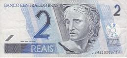 BILLETE DE BRASIL DE 2 REAIS DEL AÑO 2010 DE UNA TORTUGA-TURTLE     (BANKNOTE) - Brasile