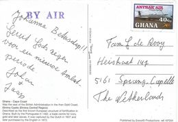 Ghana 2008 Takoradi Antrak Air Airplane 40Gp Viewcard - Ghana (1957-...)