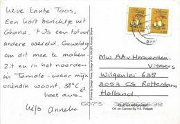 Ghana 2000 Tamale Boletis Edulis Mushroom C1000 Viewcard - Ghana (1957-...)