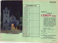 PORTUGAL MATA BORRAO BUVARD BLOTTER  20.8 X 14.7 CMS - 1940 CHURCH EGLISE CHRISTMAS NOEL MEDECINE ADVERTISING - Paints