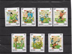 O) 1989 KAMPUCHEA, WORLD CUP OF FOOTBALL ITALY 1990, SET MNH - Kampuchea