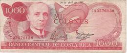 BILLETE DE COSTA RICA DE 1000 COLONES AÑO 1990 SERIE C  (BANKNOTE) RARO - Costa Rica