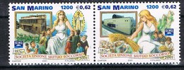 2001 SAN MARINO SET  125° ANNIVERSARIO DELLA S.U.M.S. MNH ** MINT - San Marino