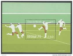 Brazil 1974 Football Soccer World Cup S/s MNH - Coppa Del Mondo
