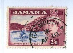 GIAMAICA, JAMAICA, ELISABETTA II, PAESAGGI, LANDSCAPES, 1956, FRANCOBOLLI USATI Yvert Tellier 176…Scott 169 - Jamaïque (...-1961)