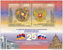 Armenien / Armenie / Russia / Armenia 2017, 25th Anniversary Of The Establishment Of Diplomatic Relations, SS  - MNH - Armenië
