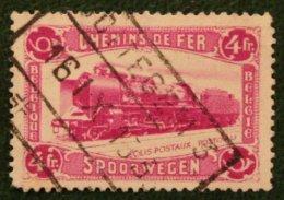 Spoorwegen Railway Eisenbahn Train Zug 4 Fr Mi 9 1934 Used/gebruikt/oblitere BELGIE / BELGIEN / BELGIUM / Belgique - Bahnwesen